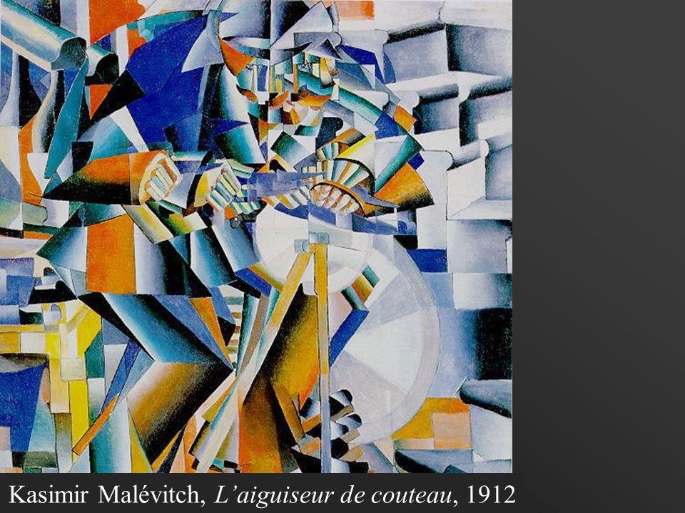Kasimir Malévitch, L'aiguiseur de couteau, 1912