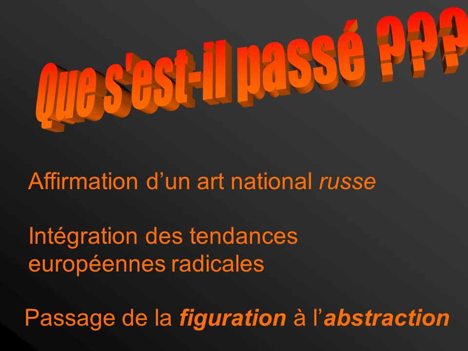 Affirmation d'un art national russe