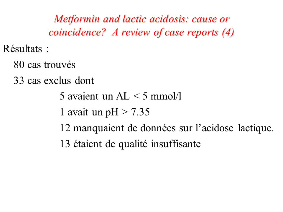 Metformin and lactic acidosis: cause or coincidence