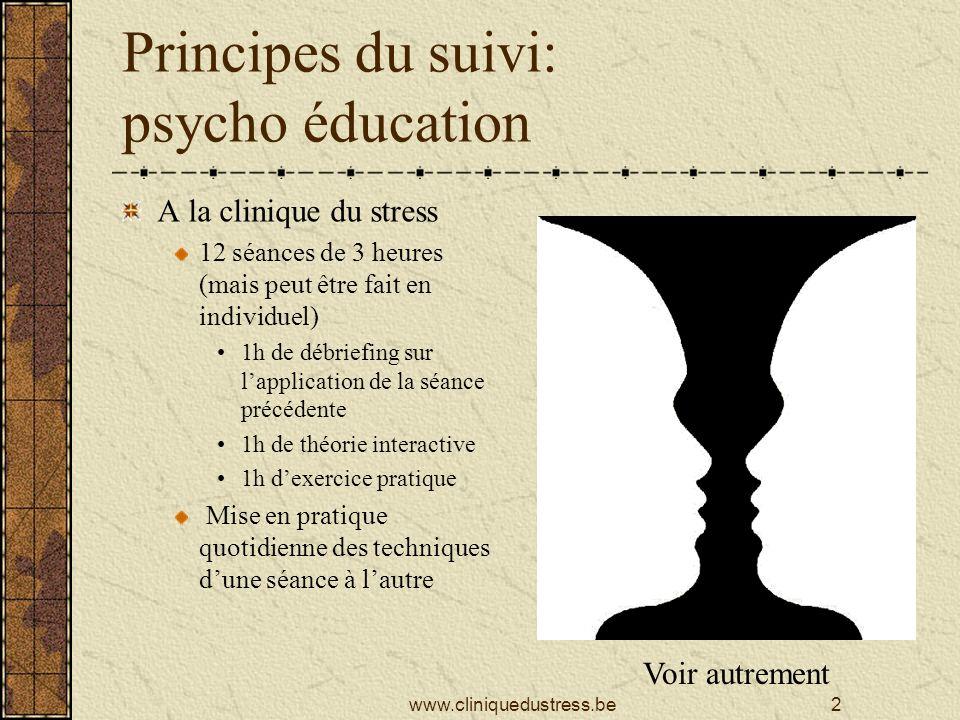 Principes du suivi: psycho éducation