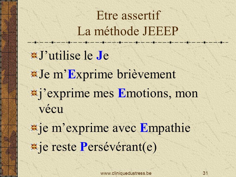 Etre assertif La méthode JEEEP