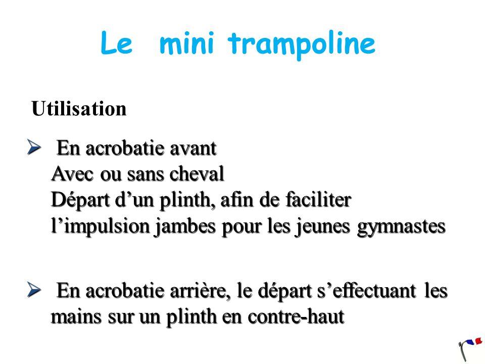 Le mini trampoline Utilisation