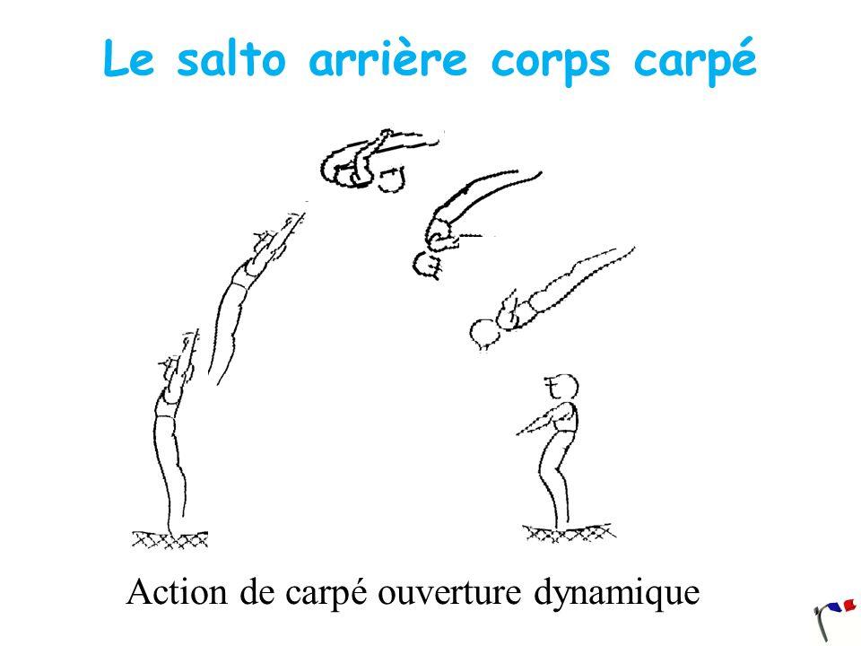 Le salto arrière corps carpé