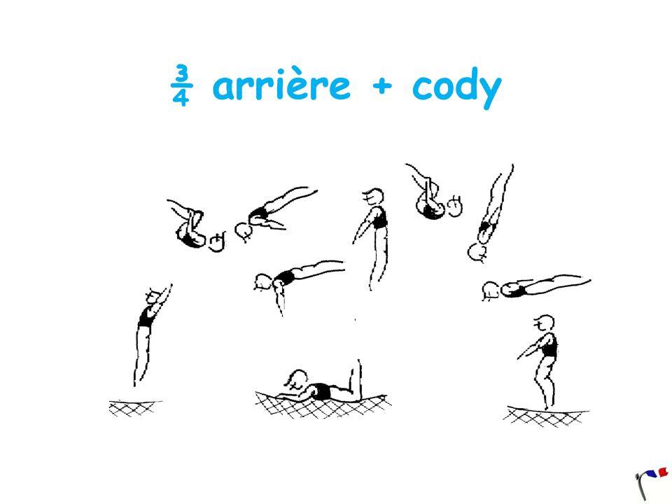 ¾ arrière + cody