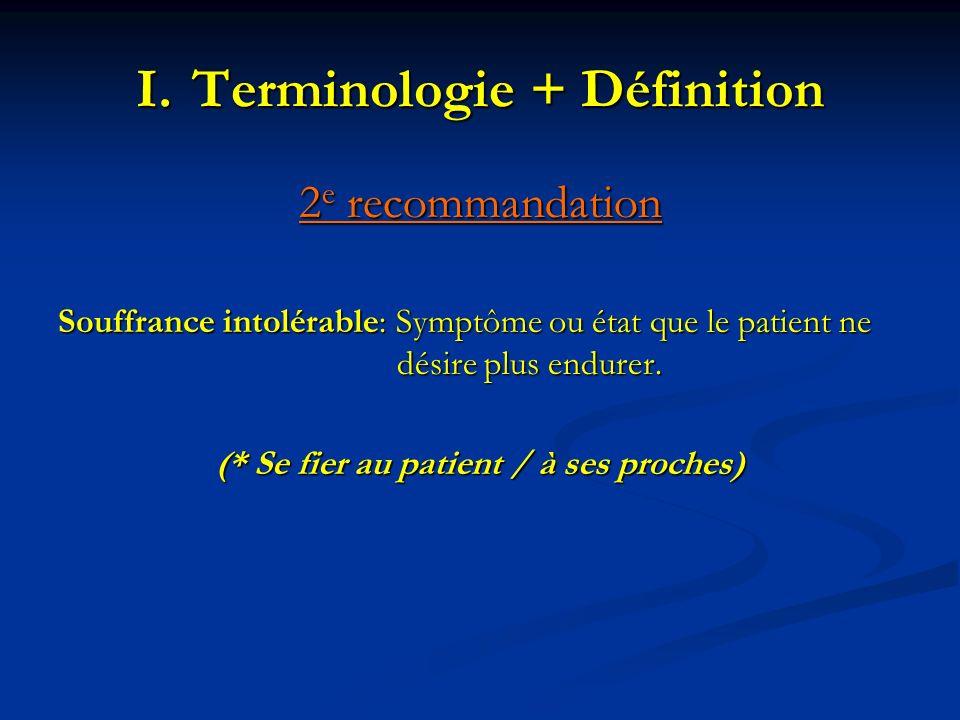 Terminologie + Définition