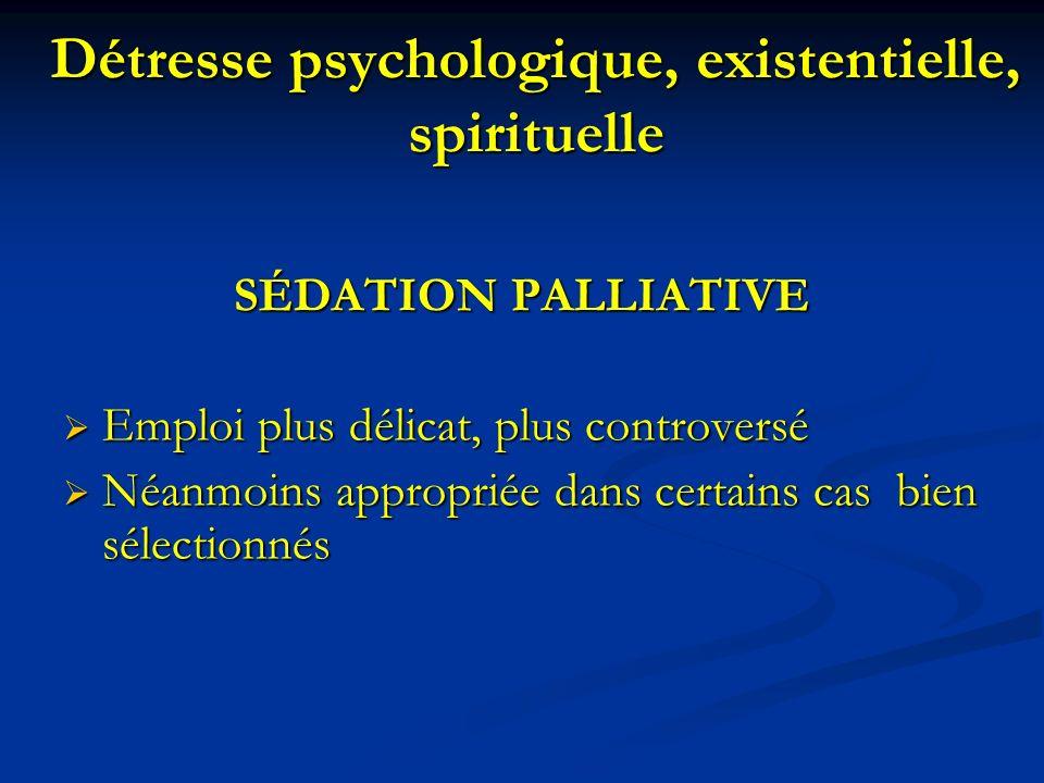 Détresse psychologique, existentielle, spirituelle