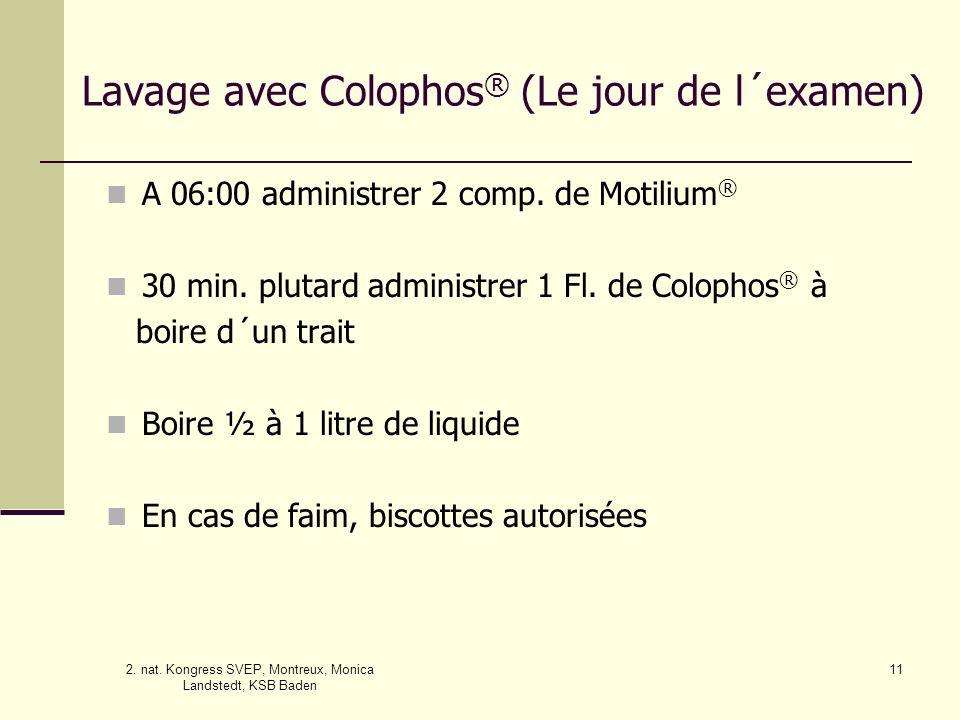 Lavage avec Colophos® (Le jour de l´examen)