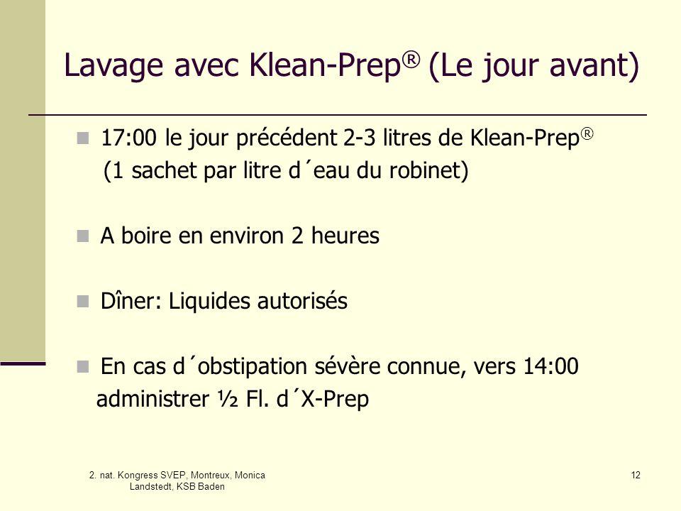 Lavage avec Klean-Prep® (Le jour avant)