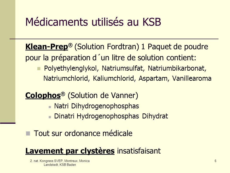 Médicaments utilisés au KSB
