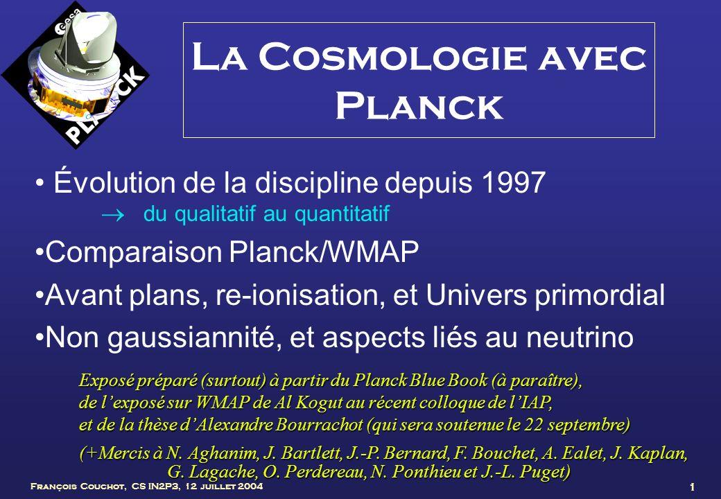 La Cosmologie avec Planck
