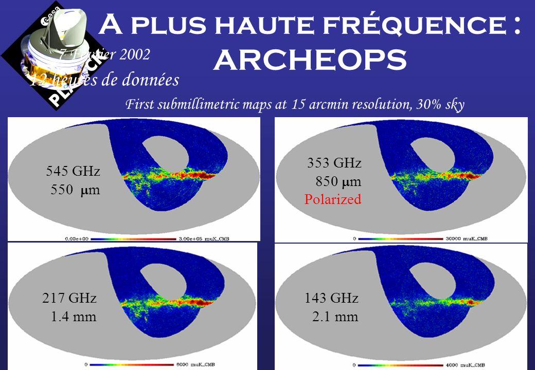 A plus haute fréquence : ARCHEOPS