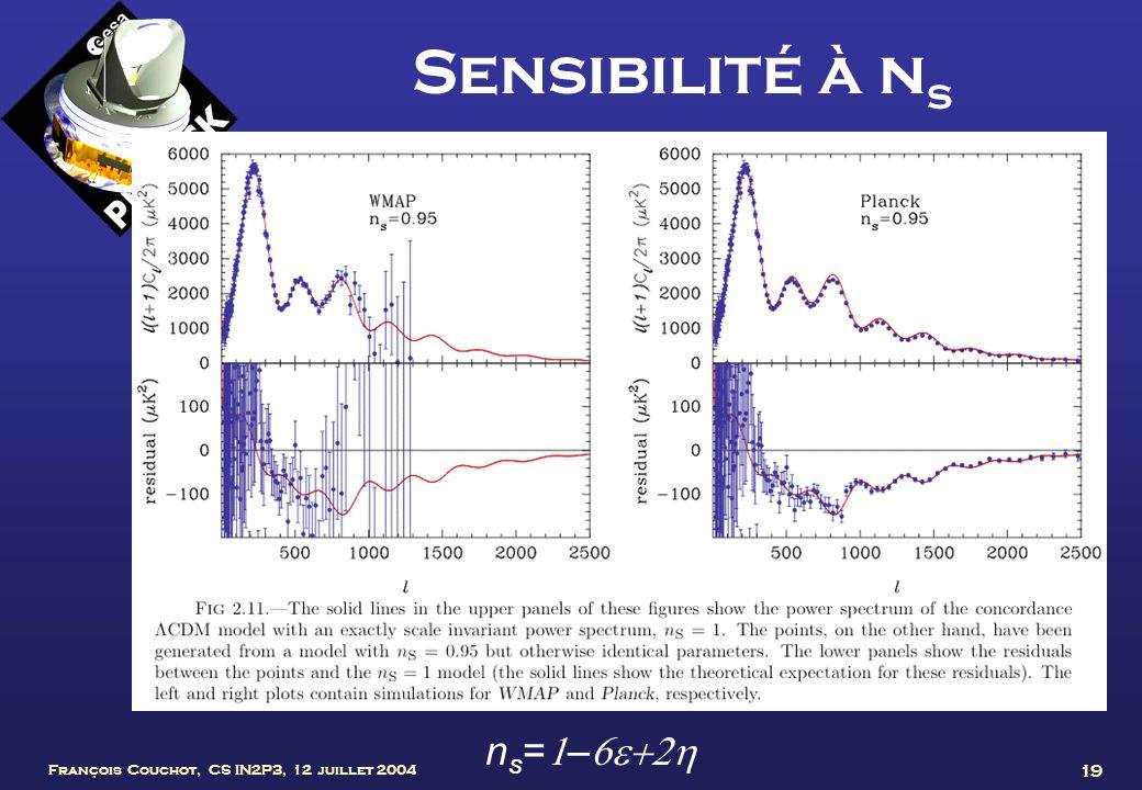 Sensibilité à ns ns=1–6e+2h