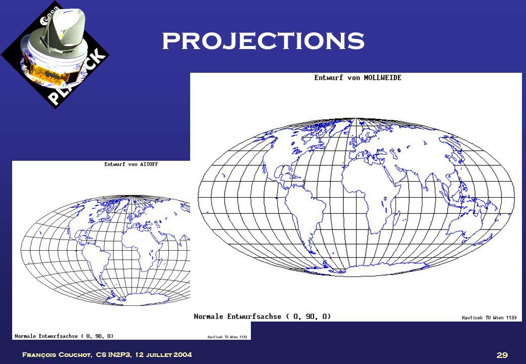 projections François Couchot, CS IN2P3, 12 juillet 2004