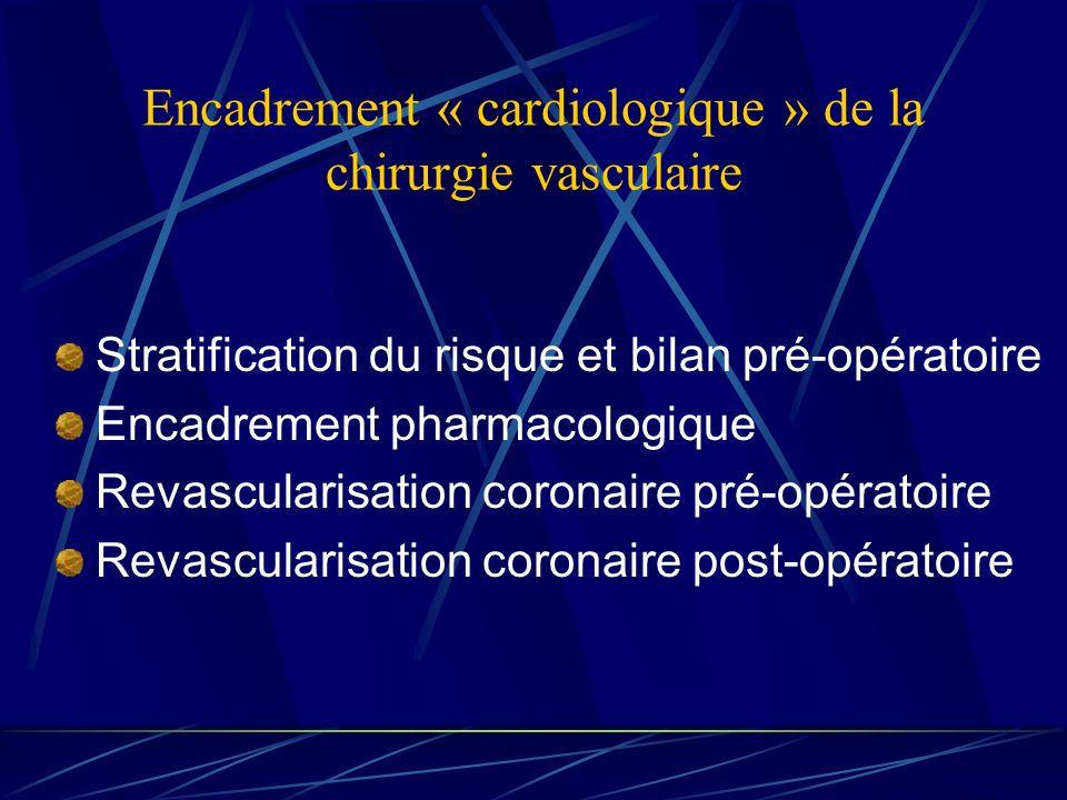 Encadrement « cardiologique » de la chirurgie vasculaire