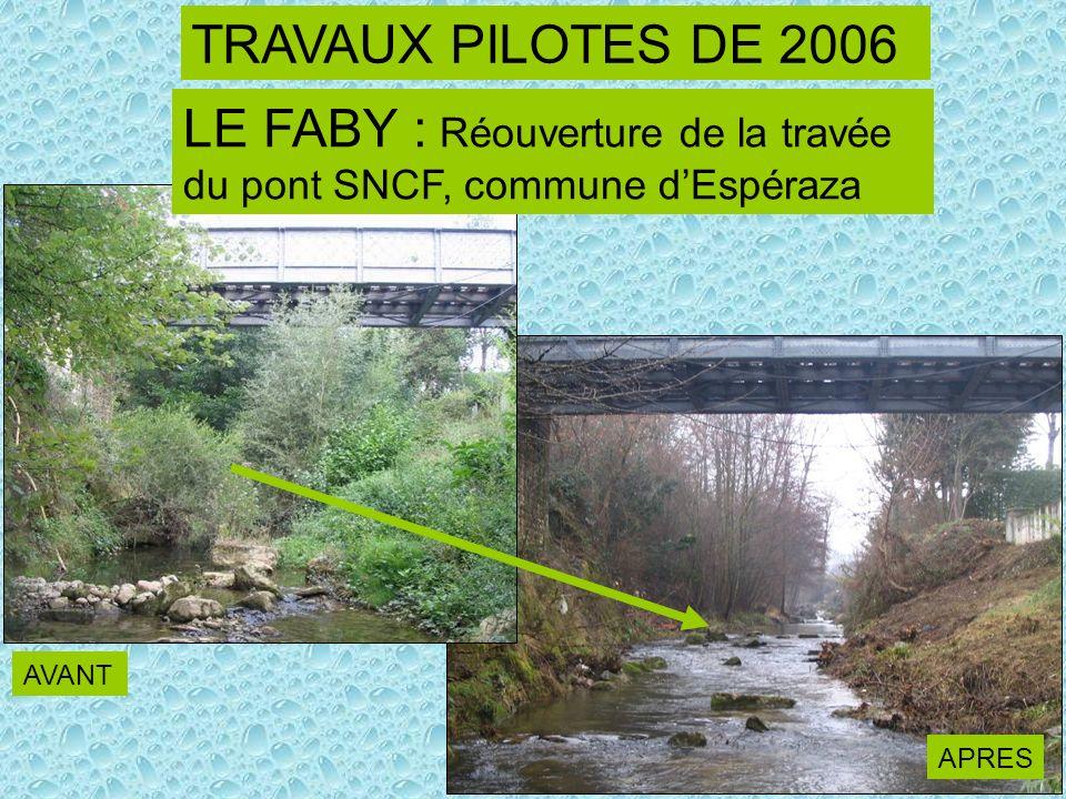 LE FABY : Réouverture de la travée du pont SNCF, commune d'Espéraza