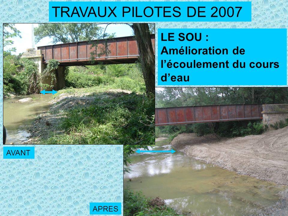 TRAVAUX PILOTES DE 2007 LE SOU :