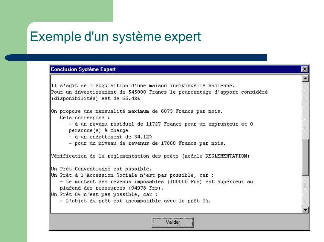 Exemple d un système expert