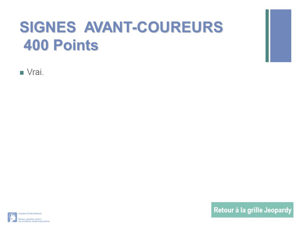 SIGNES AVANT-COUREURS 400 Points
