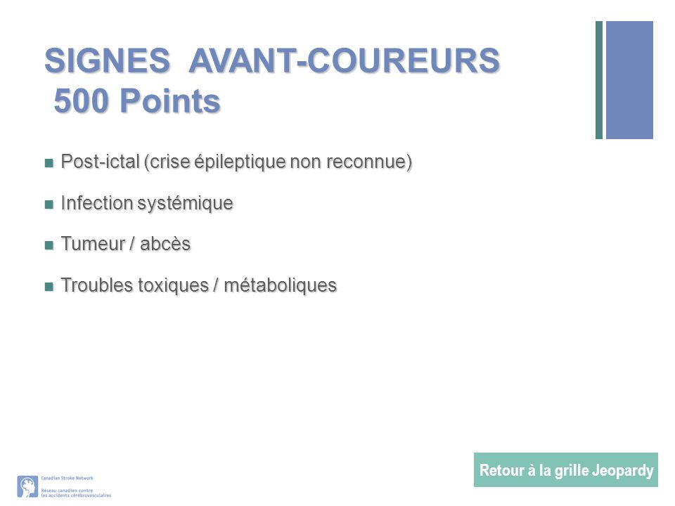 SIGNES AVANT-COUREURS 500 Points