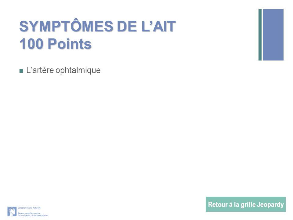 SYMPTÔMES DE L'AIT 100 Points