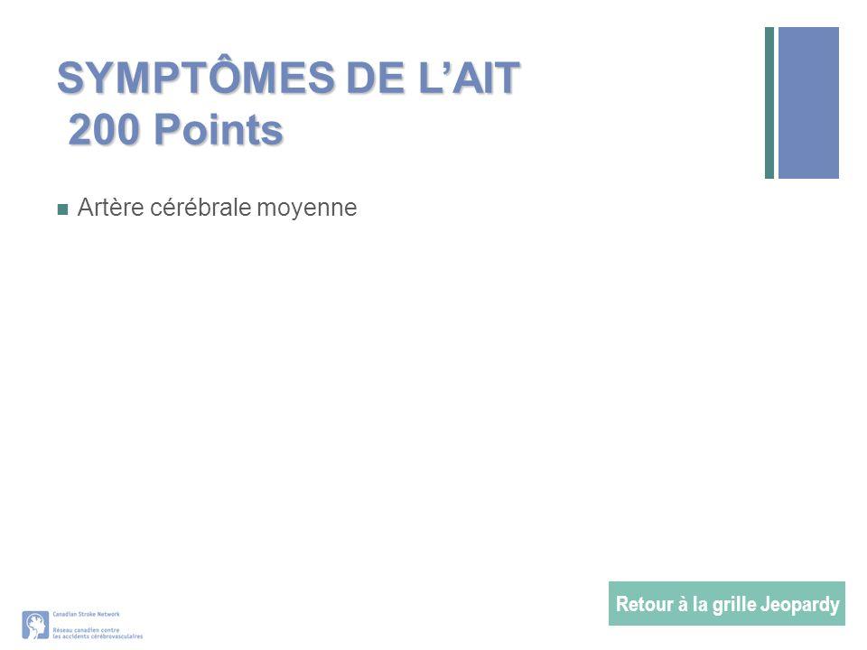 SYMPTÔMES DE L'AIT 200 Points