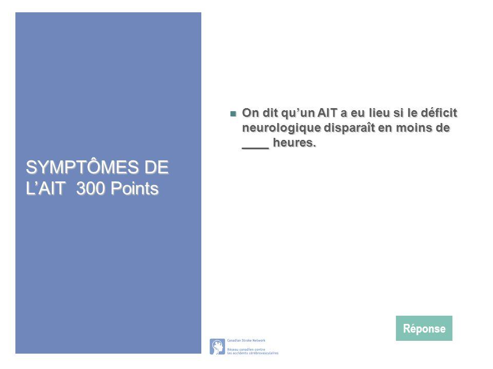 SYMPTÔMES DE L'AIT 300 Points