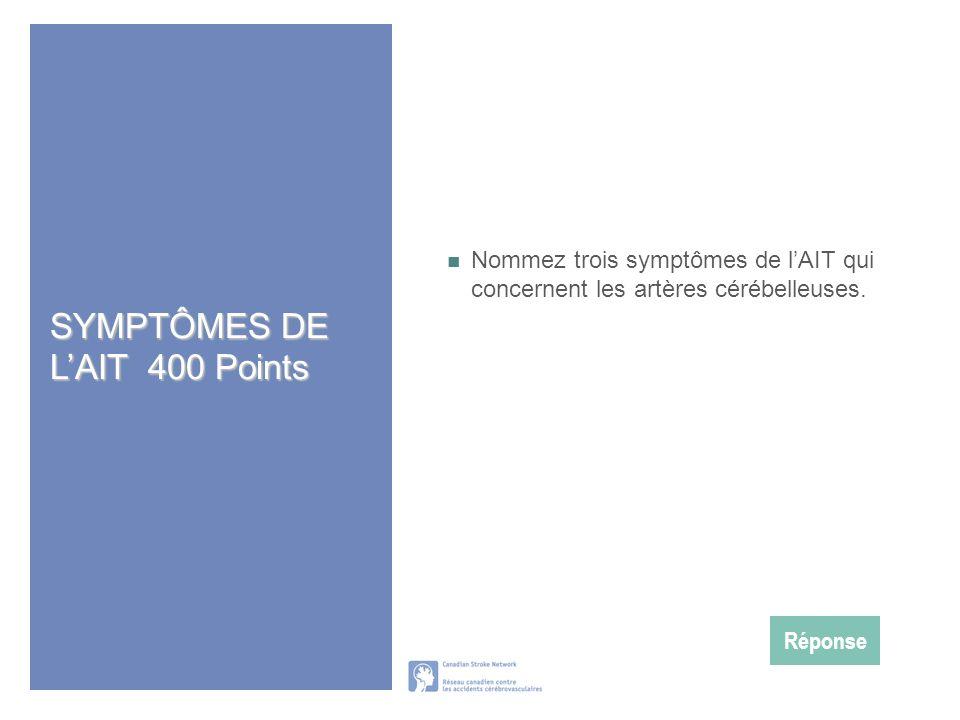 SYMPTÔMES DE L'AIT 400 Points