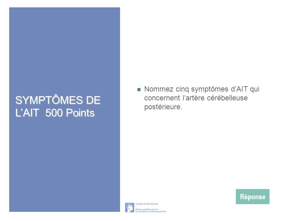 SYMPTÔMES DE L'AIT 500 Points