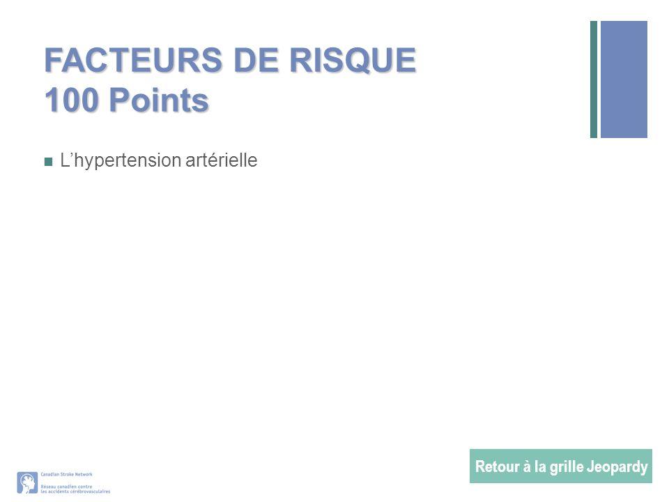 FACTEURS DE RISQUE 100 Points