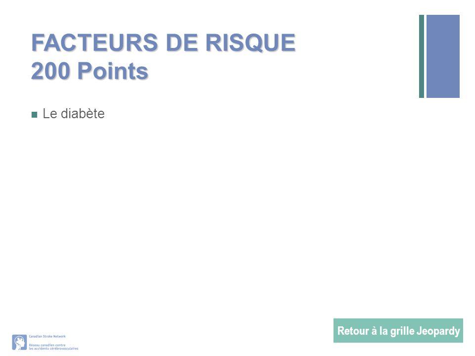 FACTEURS DE RISQUE 200 Points