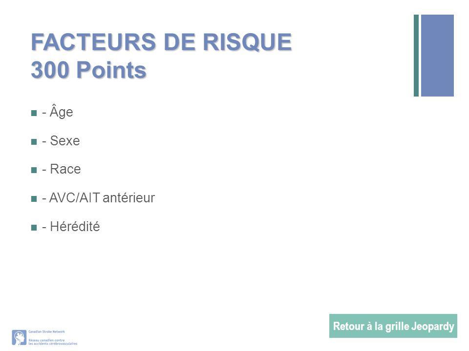 FACTEURS DE RISQUE 300 Points