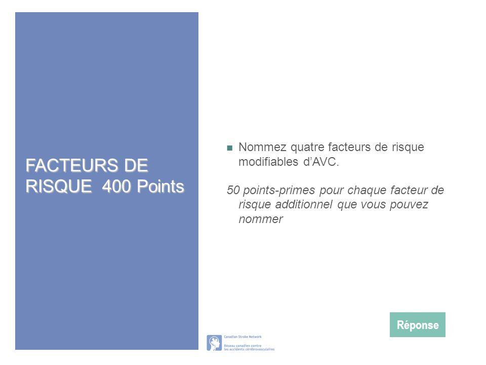 FACTEURS DE RISQUE 400 Points