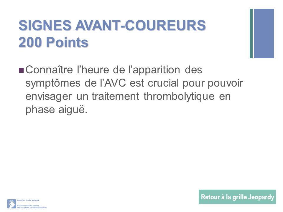 SIGNES AVANT-COUREURS 200 Points