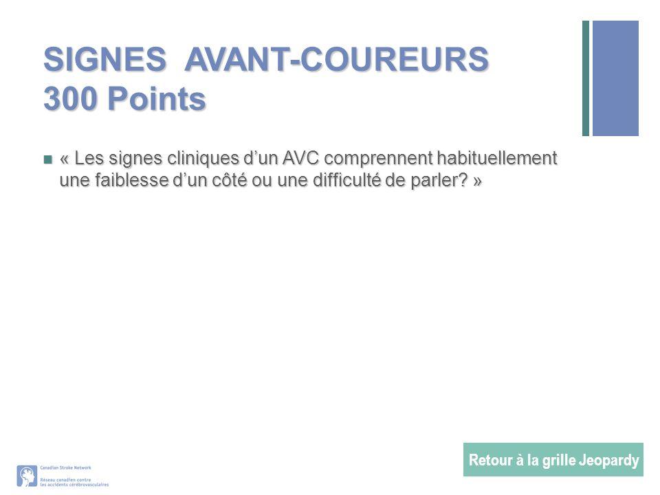 SIGNES AVANT-COUREURS 300 Points