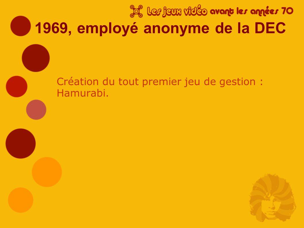 1969, employé anonyme de la DEC