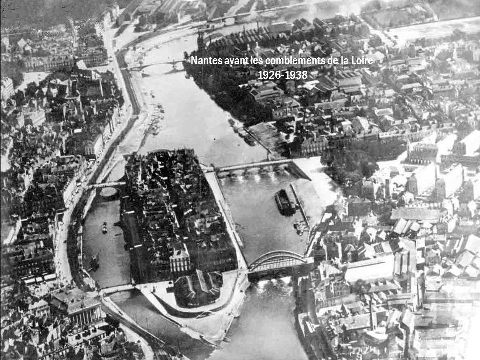 Nantes avant les comblements de la Loire