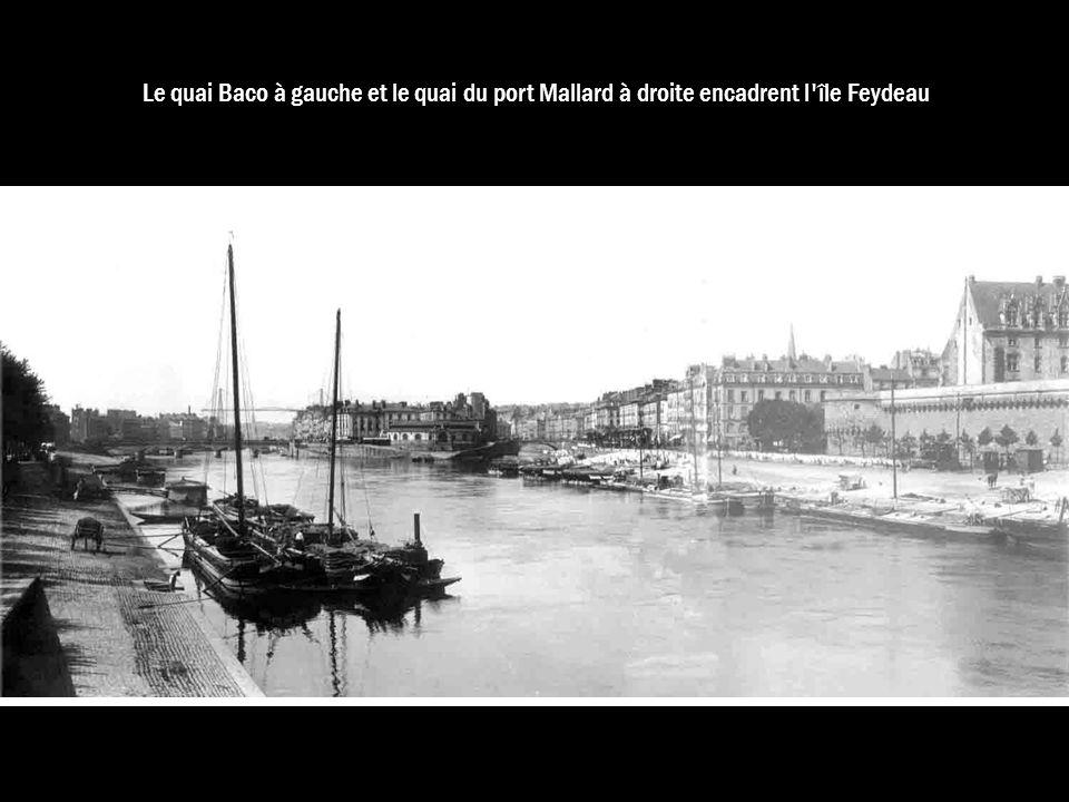 Le quai Baco à gauche et le quai du port Mallard à droite encadrent l île Feydeau
