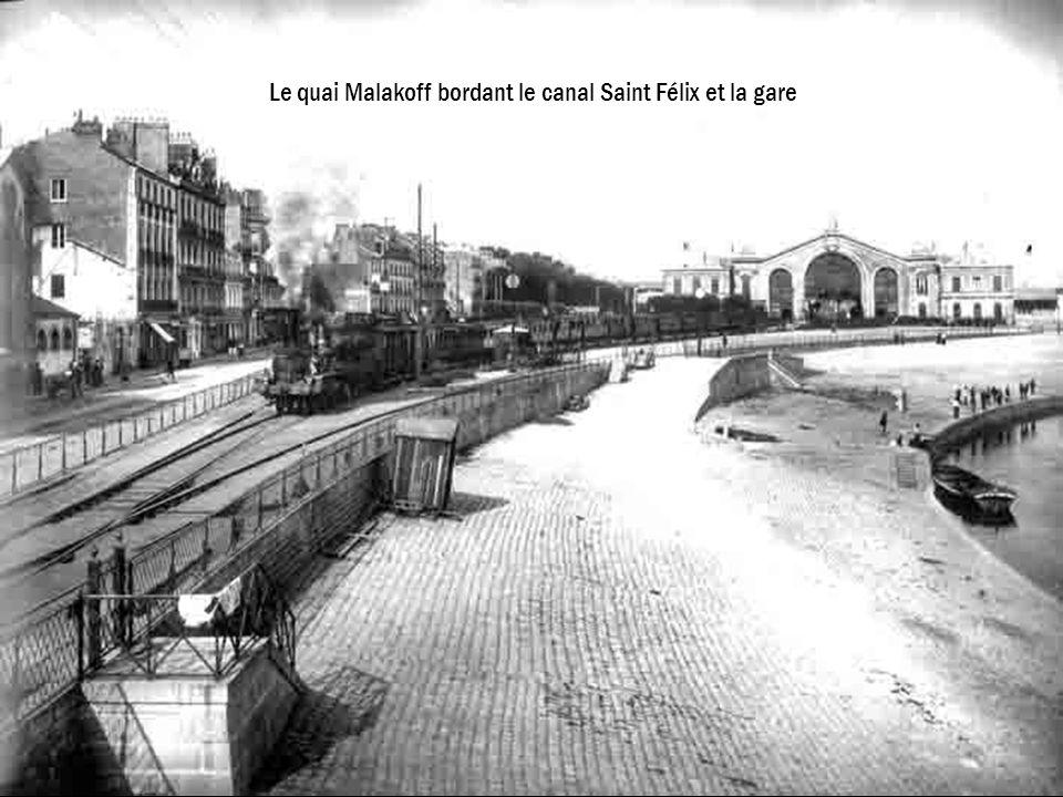 Le quai Malakoff bordant le canal Saint Félix et la gare