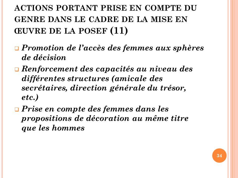 actions portant prise en compte du genre dans le cadre de la mise en œuvre de la posef (11)