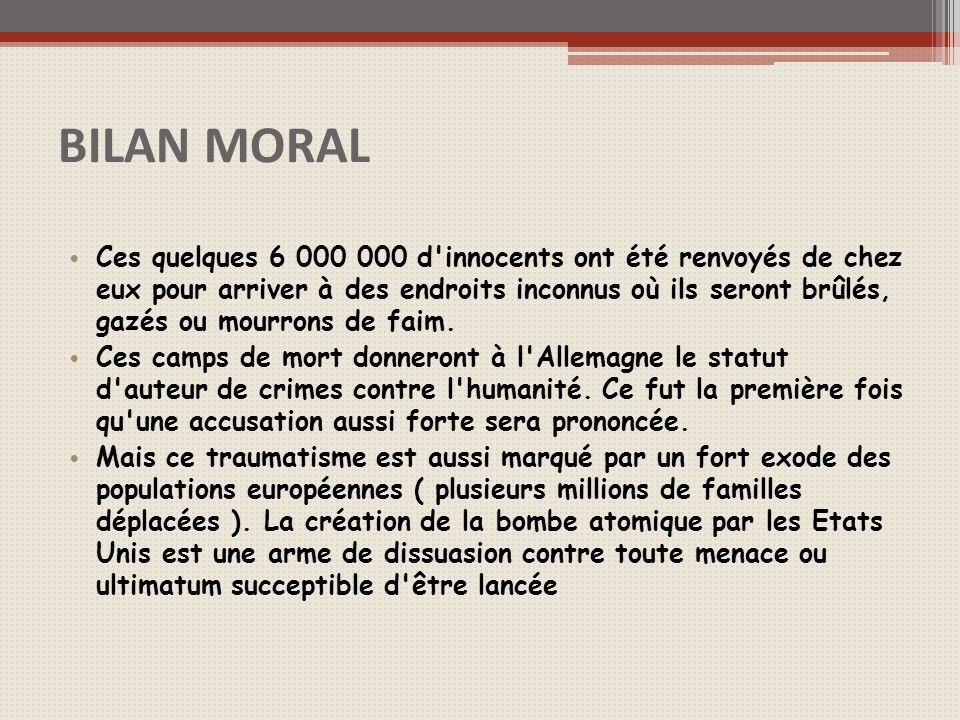 BILAN MORAL