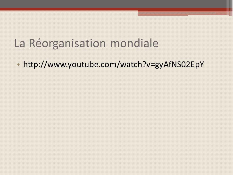 La Réorganisation mondiale