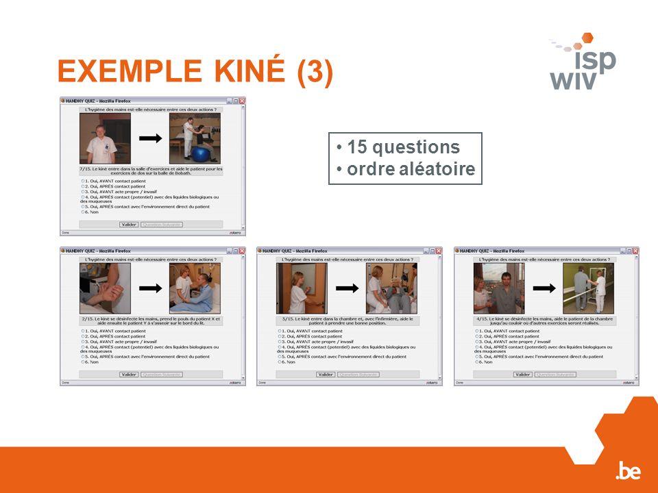 EXEMPLE KINÉ (3) 15 questions ordre aléatoire