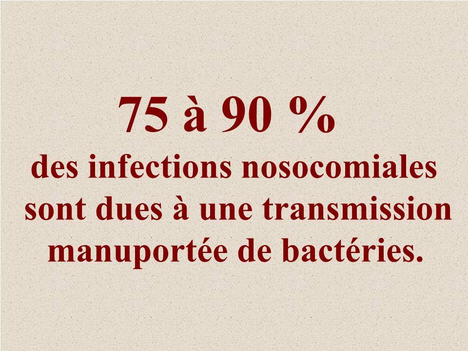 des infections nosocomiales sont dues à une transmission