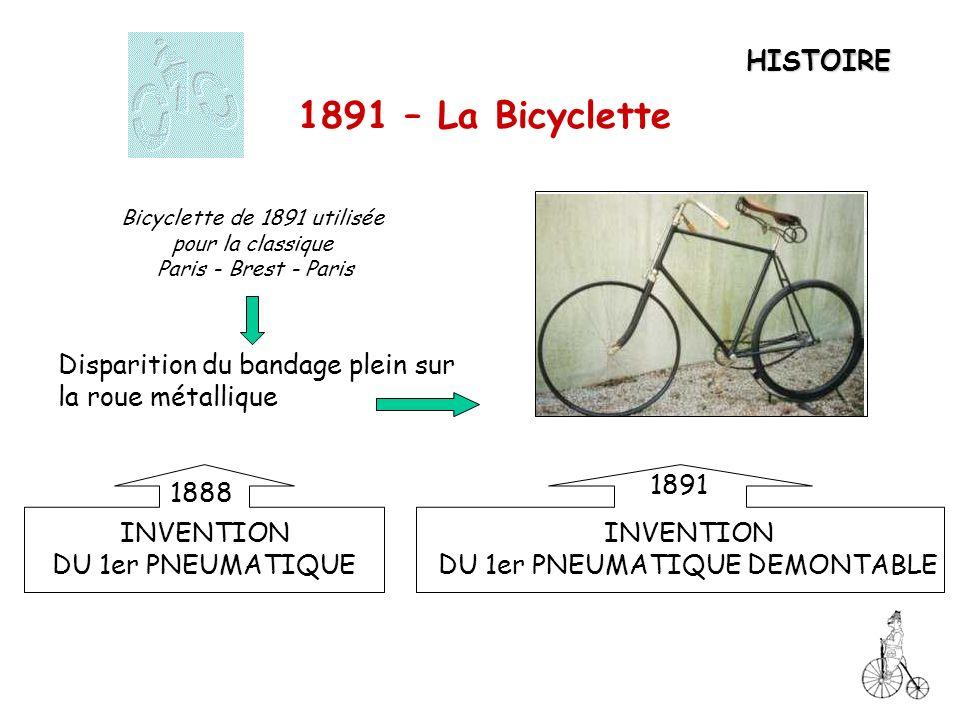 1891 – La Bicyclette HISTOIRE
