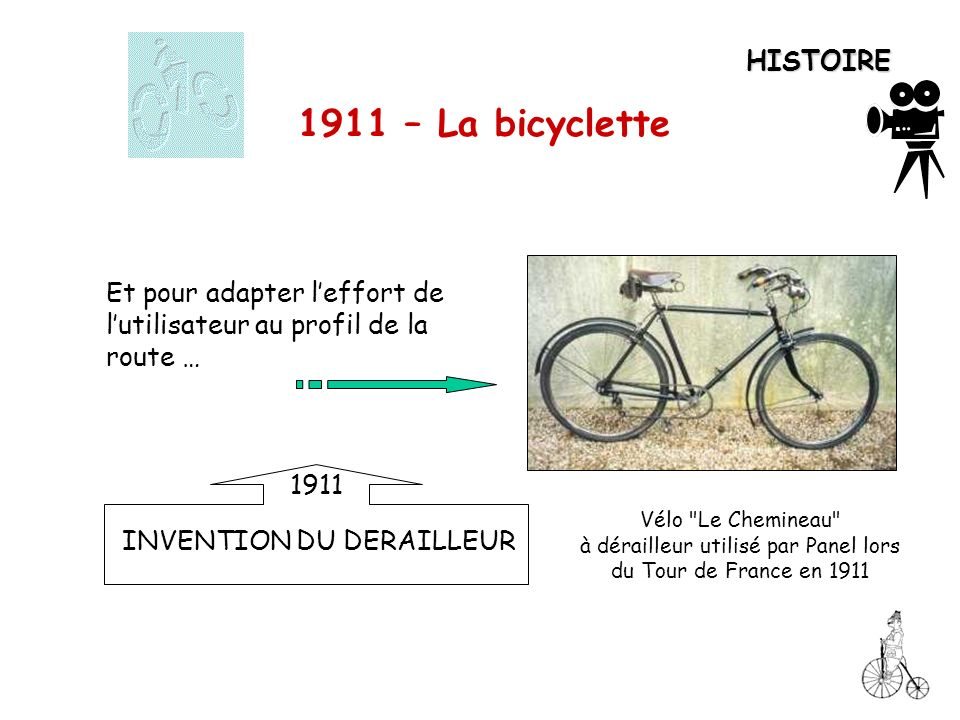 à dérailleur utilisé par Panel lors du Tour de France en 1911