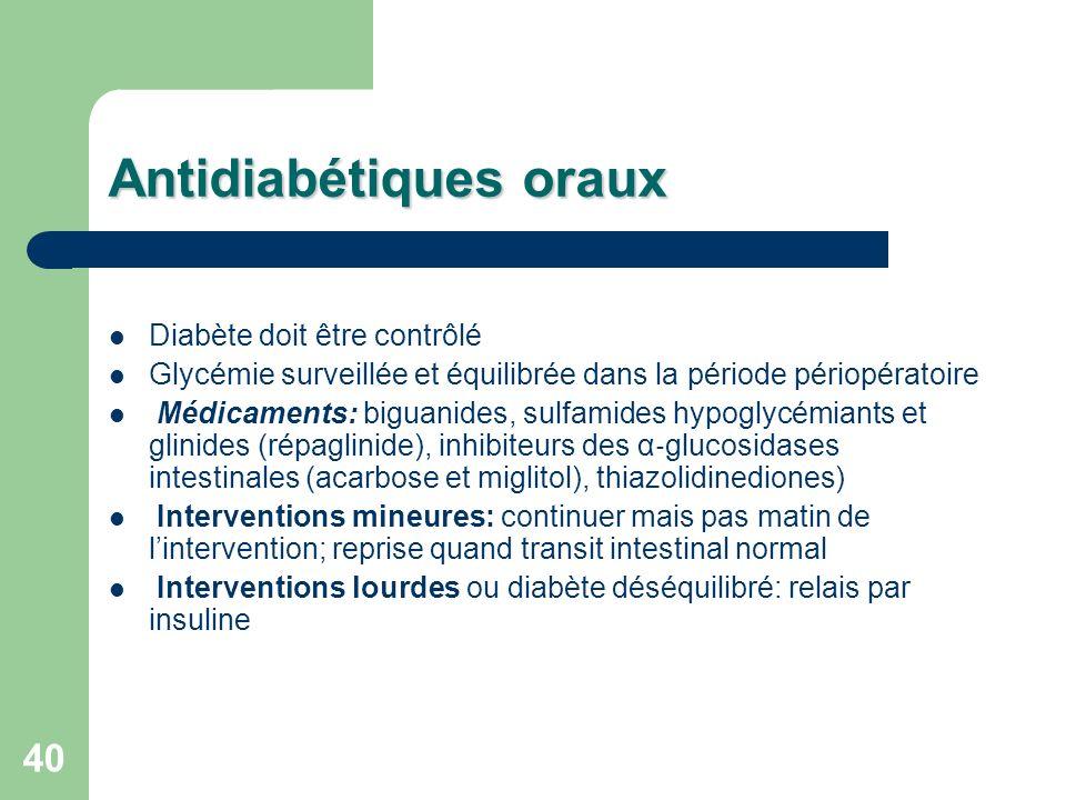 Antidiabétiques oraux
