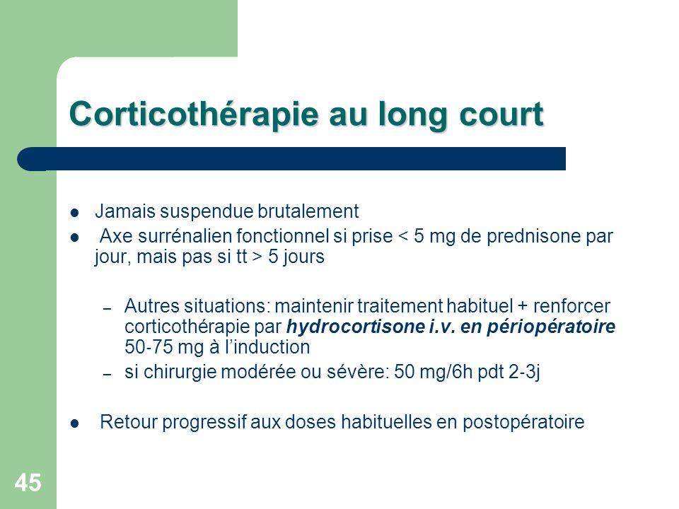Corticothérapie au long court