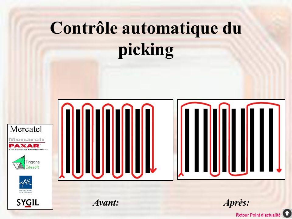 Contrôle automatique du picking