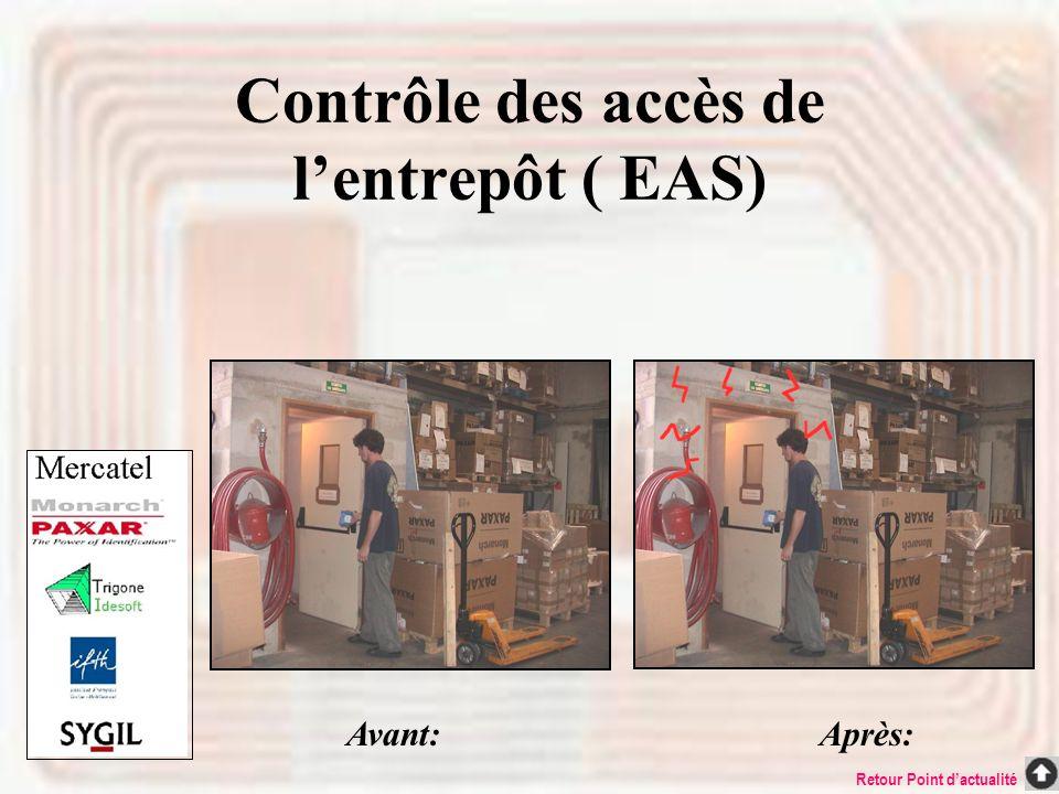 Contrôle des accès de l'entrepôt ( EAS)