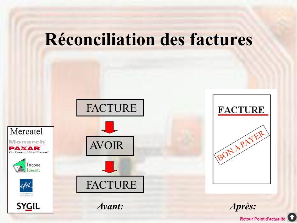 Réconciliation des factures